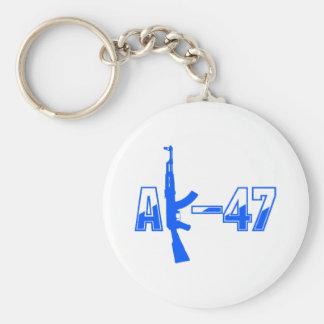 AK-47 AKM Assault Rifle Logo Blue.png Key Chains