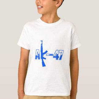 AK-47 AKM Assault Rifle Logo Blue.png T-Shirt