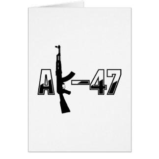 AK-47 AKM Assault Rifle Logo Card