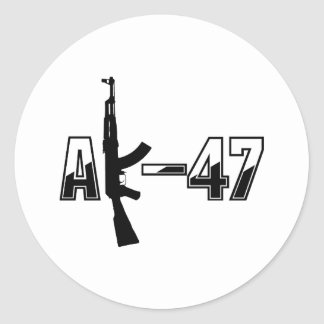 AK-47 AKM Assault Rifle Logo Classic Round Sticker