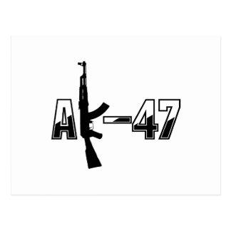 AK-47 AKM Assault Rifle Logo Postcard