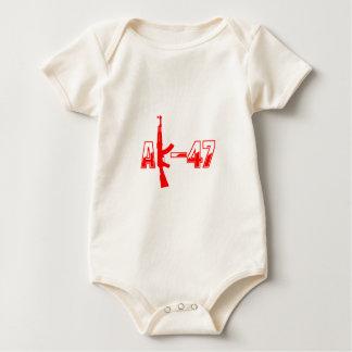 AK-47 AKM Assault Rifle Logo Red.png Baby Bodysuit