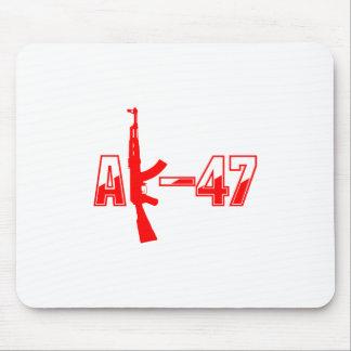 AK-47 AKM Assault Rifle Logo Red.png Mouse Pad