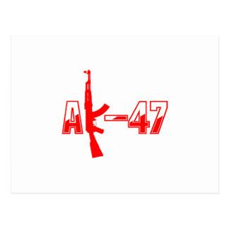AK-47 AKM Assault Rifle Logo Red.png Postcard