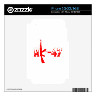 AK-47 AKM Assault Rifle Logo Red png Decals For The iPhone 3