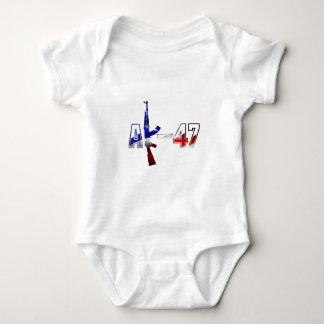 AK-47 AKM Assault Rifle Logo Red White And Blue.pn Baby Bodysuit
