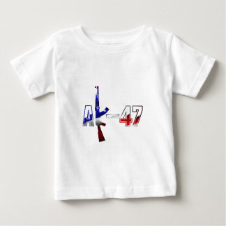 AK-47 AKM Assault Rifle Logo Red White And Blue.pn Baby T-Shirt