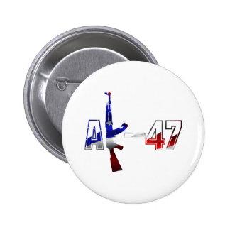 AK-47 AKM Assault Rifle Logo Red White And Blue.pn Button