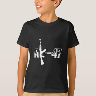 AK-47 AKM Assault Rifle Logo White.png T-Shirt
