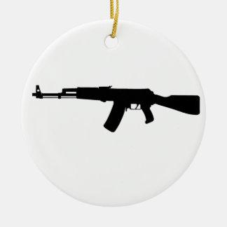 AK-47 assault rifle Kalashnikov Round Ceramic Decoration