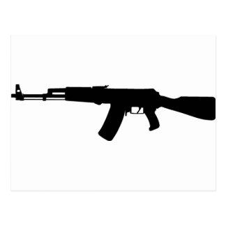 AK-47 assault rifle Kalashnikov Postcard