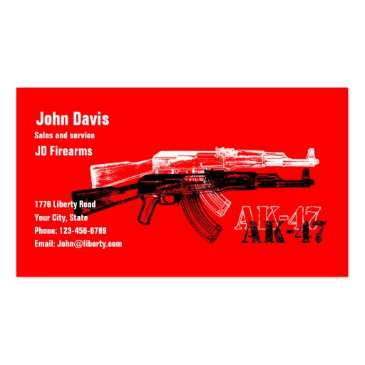 AK 47 BUSINESS CARDS