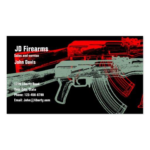 AK 47 BUSINESS CARD TEMPLATE