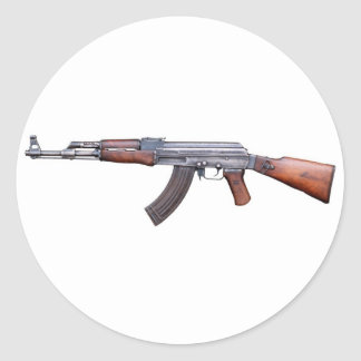 AK-47 CLASSIC ROUND STICKER
