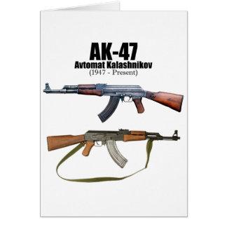 AK-47 History Avtomat Kalashnikova Assault Rifles Card