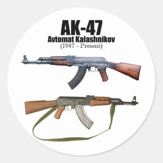 AK-47 History Avtomat Kalashnikova Assault Rifles Classic Round Sticker