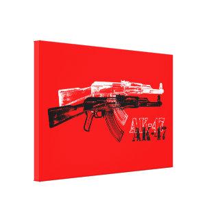 AK 47 IMPRESIÓN EN TELA