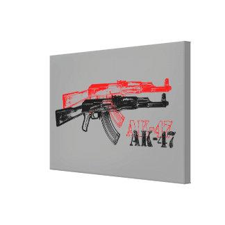 AK 47 LONA ENVUELTA PARA GALERÍAS
