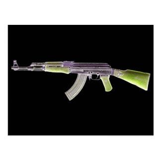 AK-47 Negative Green Postcard
