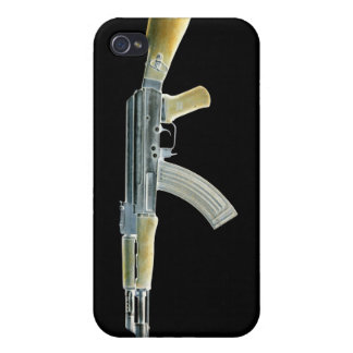 AK-47 Negative Yellow Case For iPhone 4
