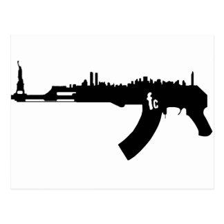 AK 47 NY Skyline Postcard