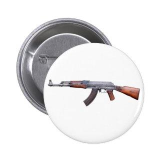 AK-47 PIN REDONDO DE 2 PULGADAS