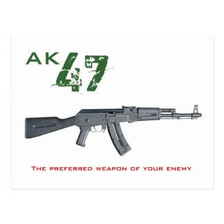 AK 47 postcard