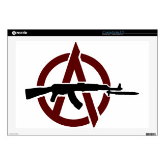 AK 47 Red Circle-A Anarchy! Cover Skin For Laptop