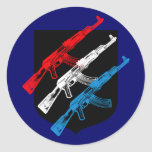 AK 47, Red, White and Blue Stickers