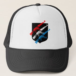 AK 47, Red, White and Blue Trucker Hat