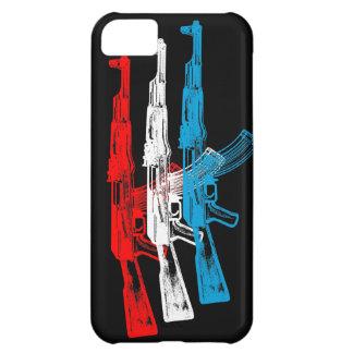 AK 47, rojo, blanco y azul Funda Para iPhone 5C