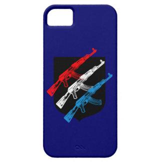 AK 47, rojo, blanco y azul iPhone 5 Carcasa
