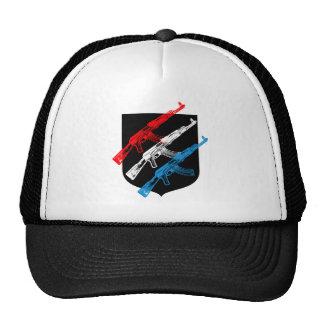 AK 47, rojo, blanco y azul Gorro