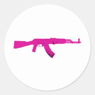 AK-47 rosado Etiqueta Redonda