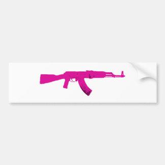 AK-47 rosado Pegatina Para Auto