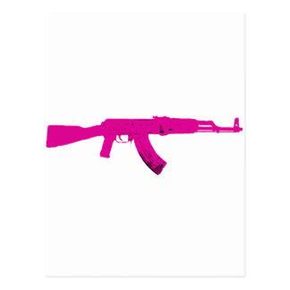AK-47 rosado Tarjeta Postal