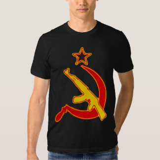 AK-47 & Sickle *with Star* T Shirt