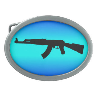 AK-47 Silhouette Belt Buckle