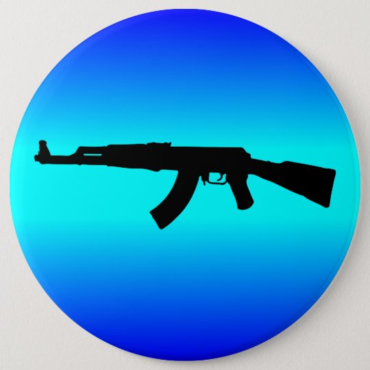 ak 47 silhouette button zazzle com