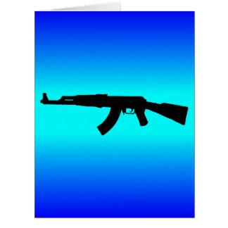 AK-47 Silhouette Card