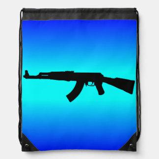 AK-47 Silhouette Drawstring Backpack