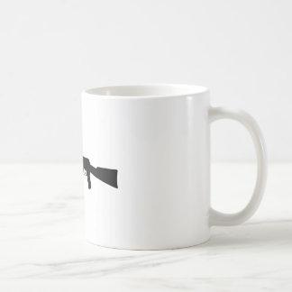 AK-47 Silhouette Classic White Coffee Mug
