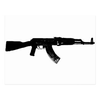 AK-47 Silhouette Postcard