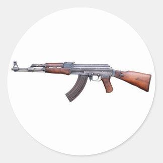AK-47 ROUND STICKERS