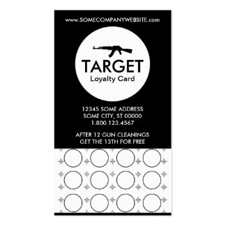 ak-47 target stamp card Double-Sided standard business cards (Pack of 100)