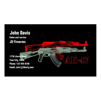 AK 47 PLANTILLAS DE TARJETA DE NEGOCIO