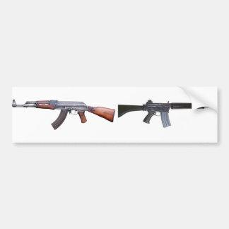 AK-47 Y AR-18 PEGATINA PARA AUTO