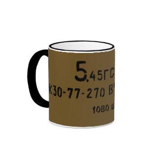 AK-74 Russian Surplus Ammo Can Print Ringer Coffee Mug