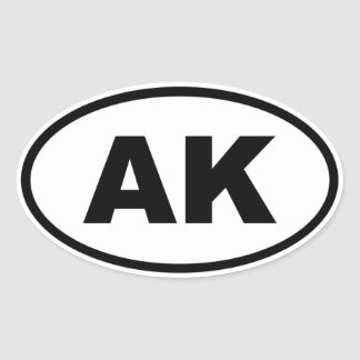 AK Alaska Oval Sticker