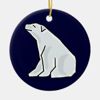 AK- Awesome Polar Bear Ornament